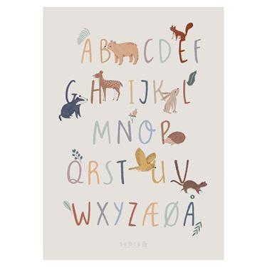 Bilde av Sebra Poster, Alfabetet A-Å, Nightfall