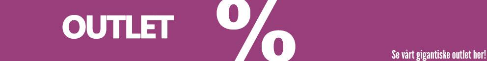 Outlet - Spar 30-88% på utvalgte varer -Kun så lenge lageret rekker!