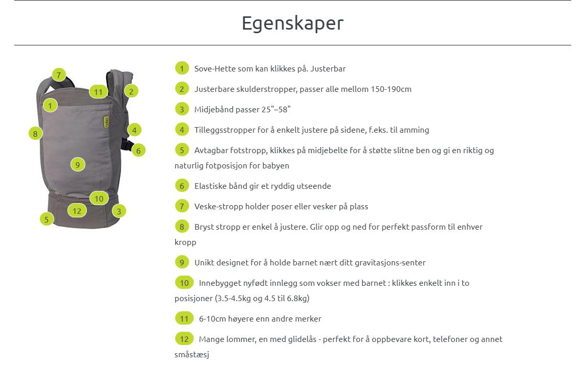 Boba 4G Bæresele får du kjøpt i Norge hos Mimmis.no